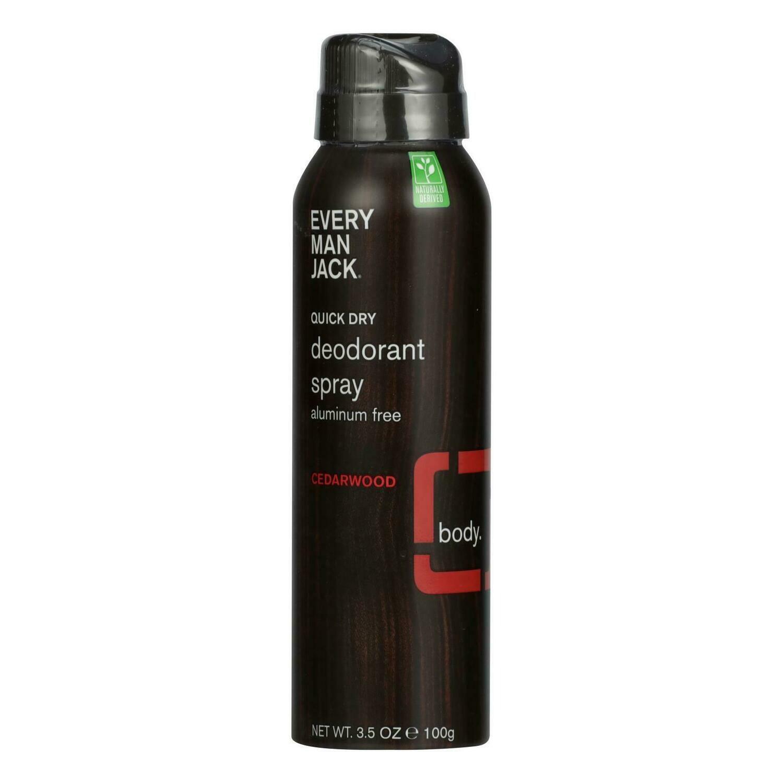 Every Man Jack - Deodorant Qk Dry Cdrwood Spray - 1 Each - 3.5 OZ (EO 2395838)