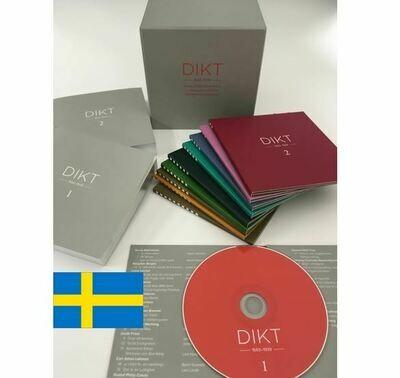 DIKT 1598-1939  svensk och finlandsvensk lyrik i uppläsning av svenska och finlandsvenska skådespelare.