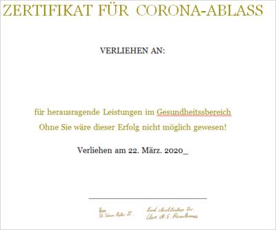 Ablass-Zertifikat