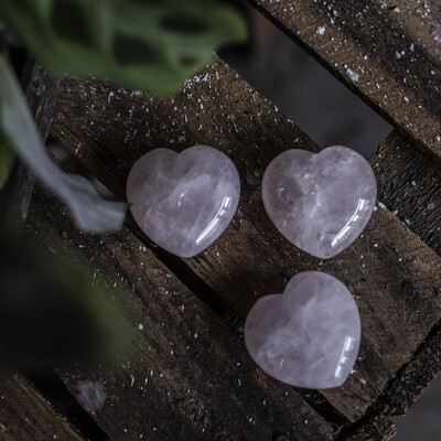 Small Rose Quartz Hearts