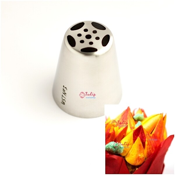 Насадка Тюльпан №3 пяти лепестковая | L размер (Russian Tulip Nozzle #3 Five Petals | L size | by Tulip Workshop)