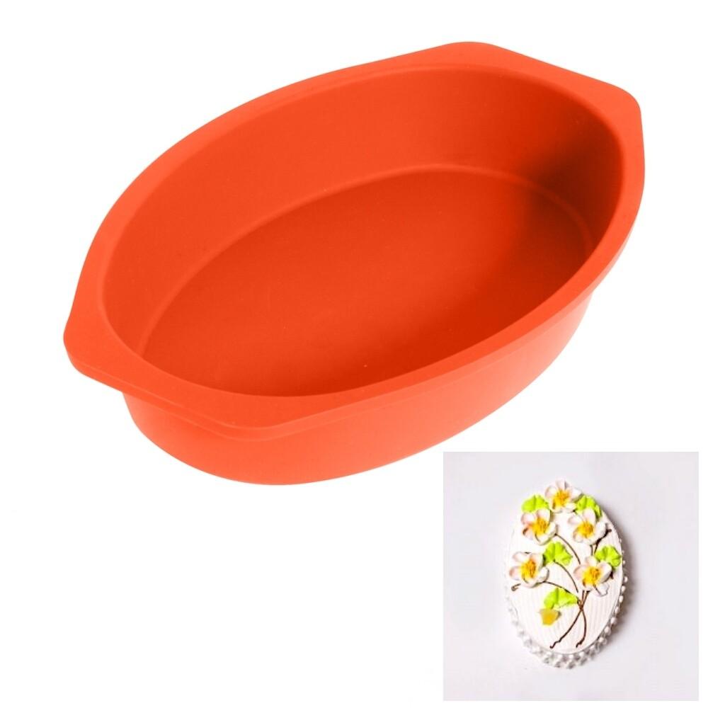 Форма силиконовая для выпечки Торта или Кекса   Овал 260*170*45 мм