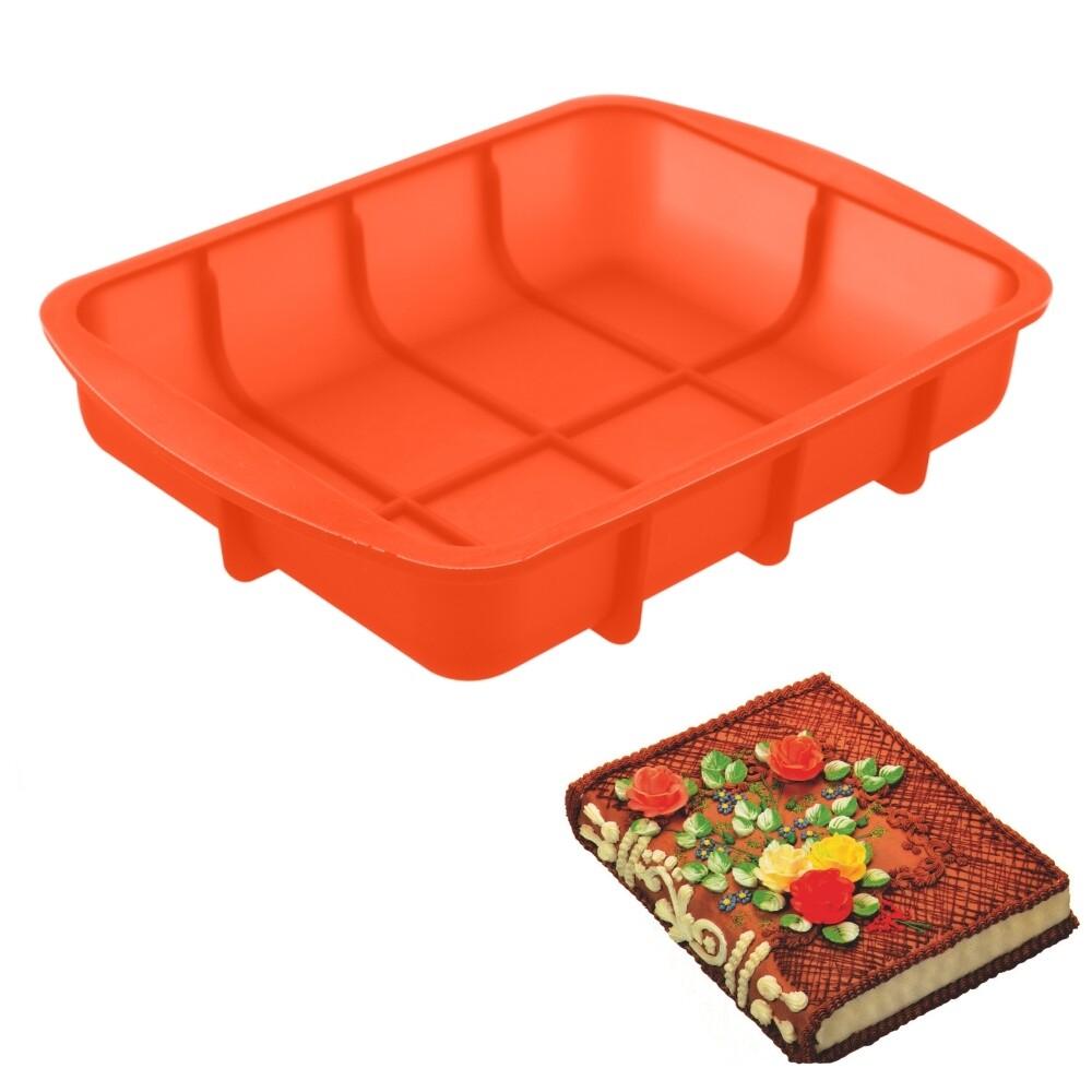 Форма силиконовая для выпечки Торта или Кекса   Прямоугольная 265*200*50 мм