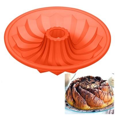 Форма силиконовая для выпечки Торта или Кекса | Саварин 3D 260*45 мм