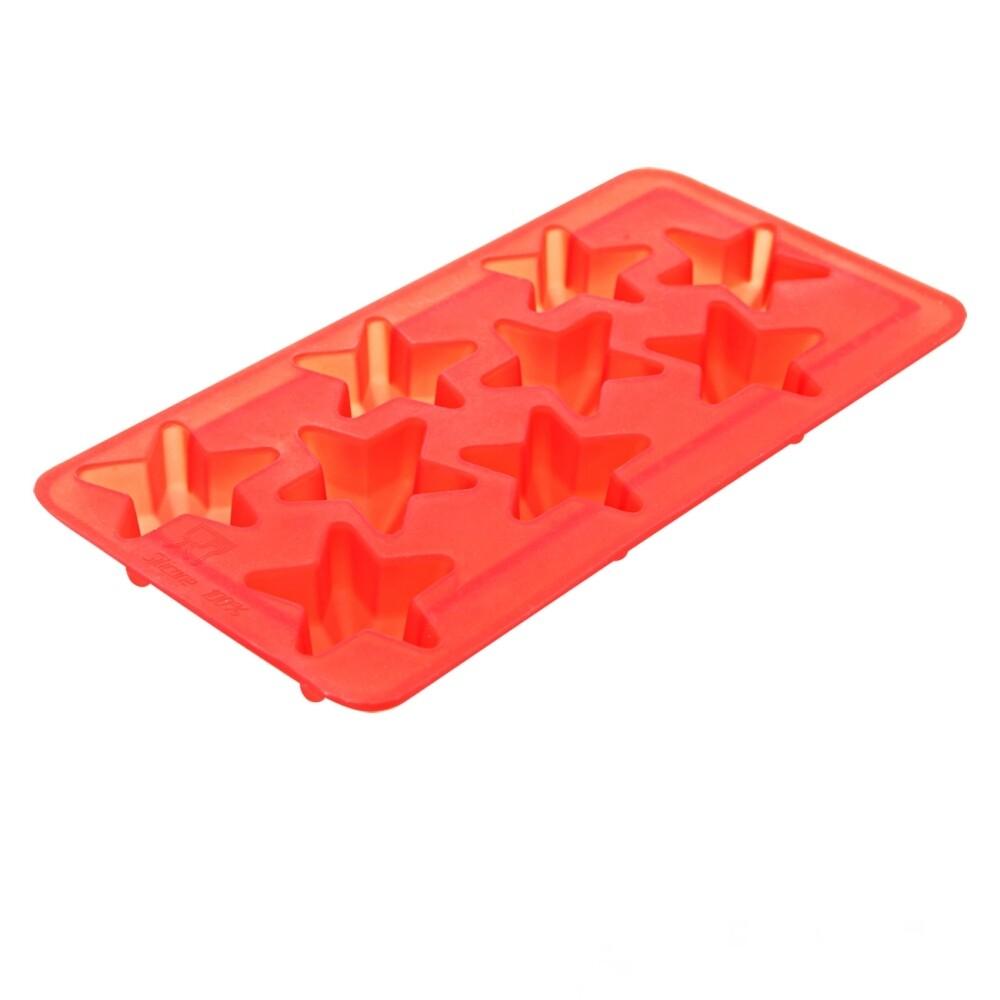 Силиконовая форма для льда шоколада желе конфет 9 фигур Звезды 200*100*20 мм