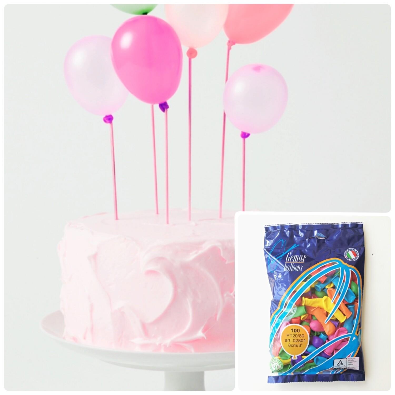 Топпер на торт - мини воздушные шарики | 100 шт.
