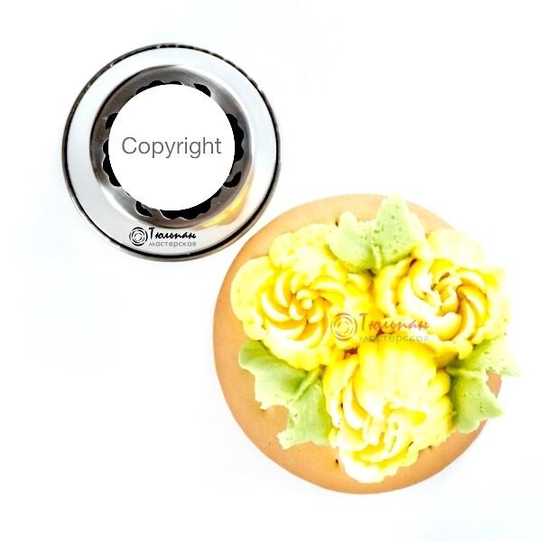Насадка Малазийский Цветок №215 Роза Кэрол | XL размер (Russian Flower Nozzle # 215 - Rosy | XL size | By Tulip Workshop)