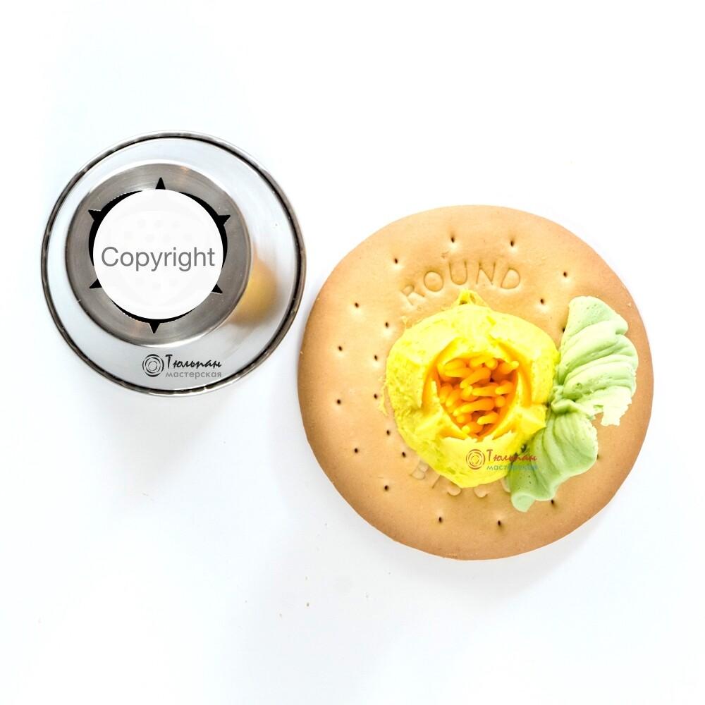 Насадка Малазийский Цветок №218 Лотос | XL размер (Russian Flower Nozzle # 218 - Lotus | XL size | By Tulip Workshop)