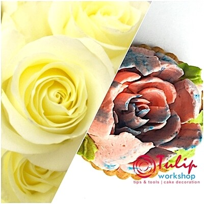 Насадка Малазийский Цветок №212 Нежная Роза | XL размер (Russian Flower Nozzle # 212 - Delicate Rose | XL size | By Tulip Workshop)