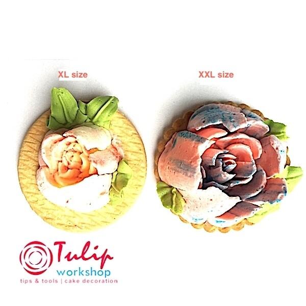 Насадка Малазийский Цветок №312 Нежная Роза | XXL размер (Russian Nozzle # 312 - Delicate Rose | XXL size | By Tulip Workshop)