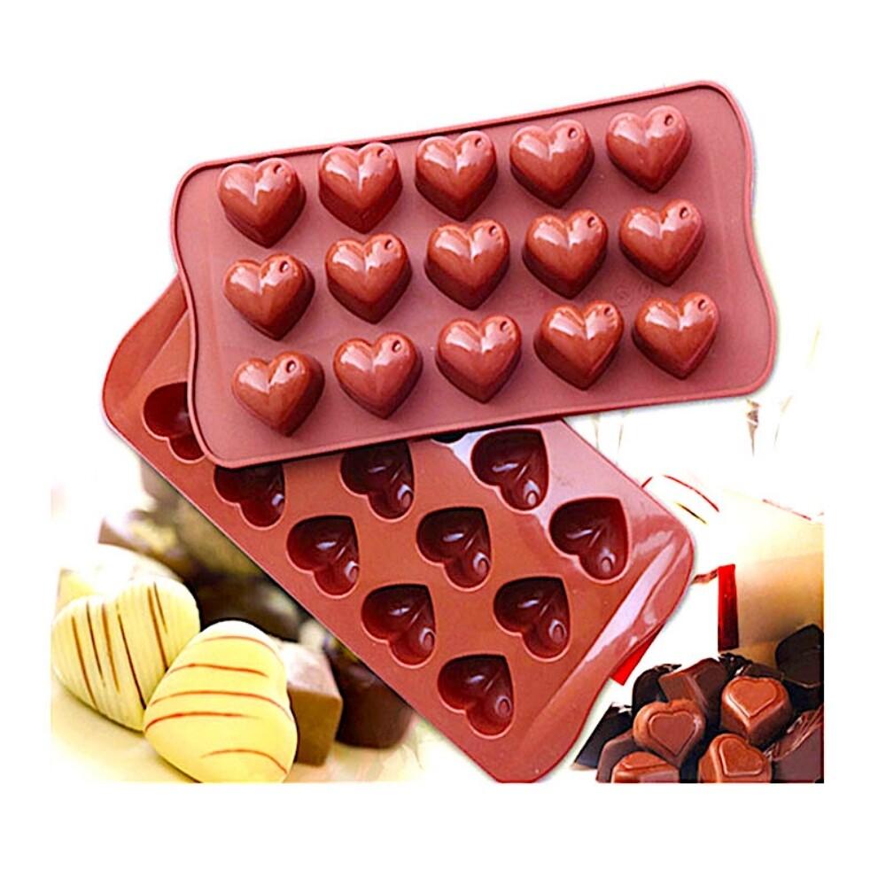 Силиконовая мини-форма для шоколада-желе-мармелада 15 фигур Сердца 210*105*20 мм