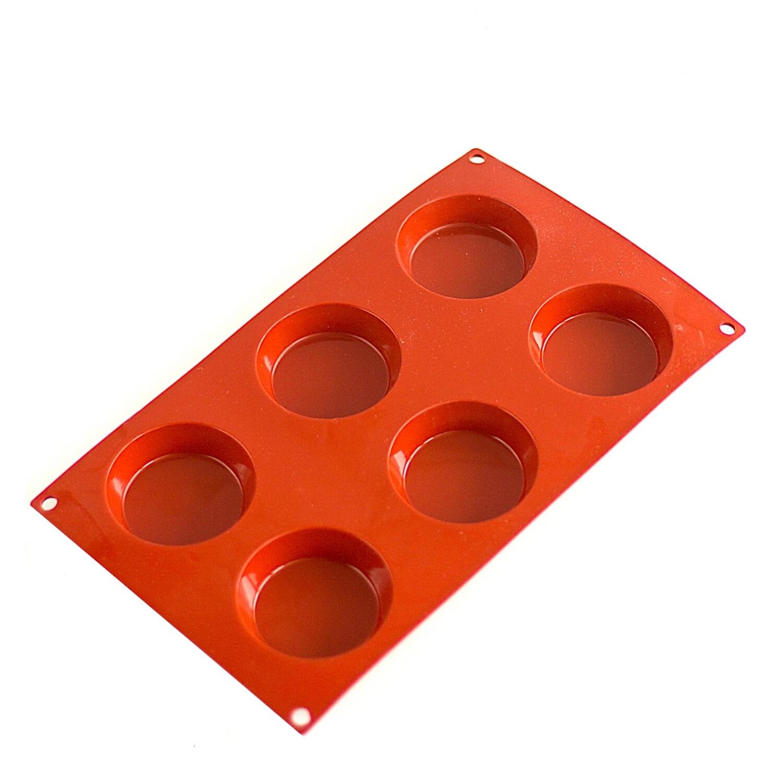 Форма для выпечки силиконовая Тортинка 6 фигур 78*17 мм