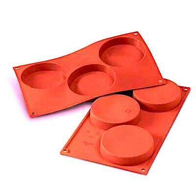 Форма для выпечки силиконовая Тортинка 3 фигуры 110*17 мм