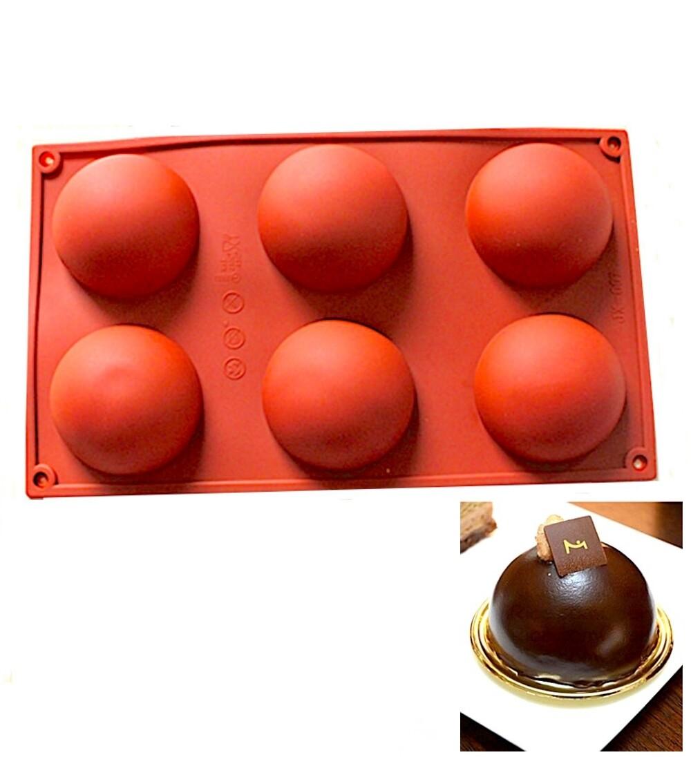 Форма для выпечки силиконовая Полусфера 6 фигур 68*35 мм
