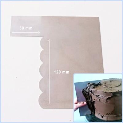 Шпатель №5 контроль крема 120*60 мм | Волнистый