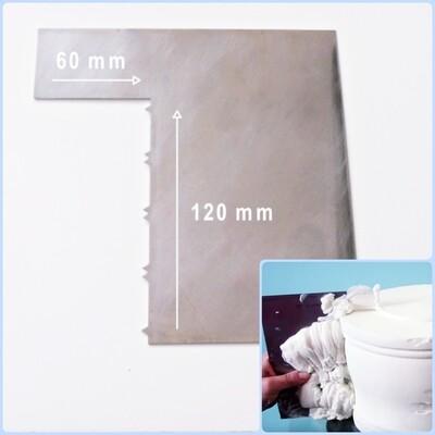 Шпатель №4 контроль крема 120*60 мм | Зубчики