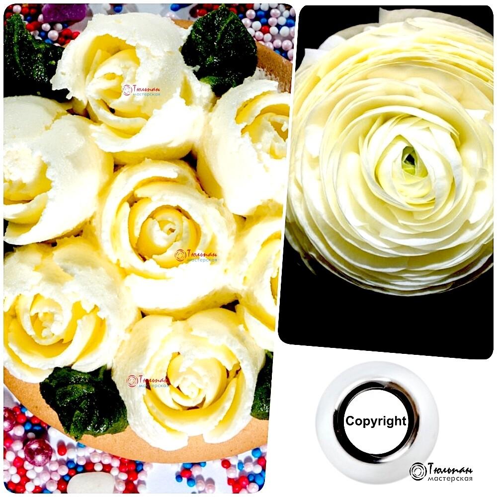 Насадка Роза №102 Тиффани | L размер (Russian Rose Nozzle L size #102 Beauty Tiffany | L size | By Tulip Workshop)