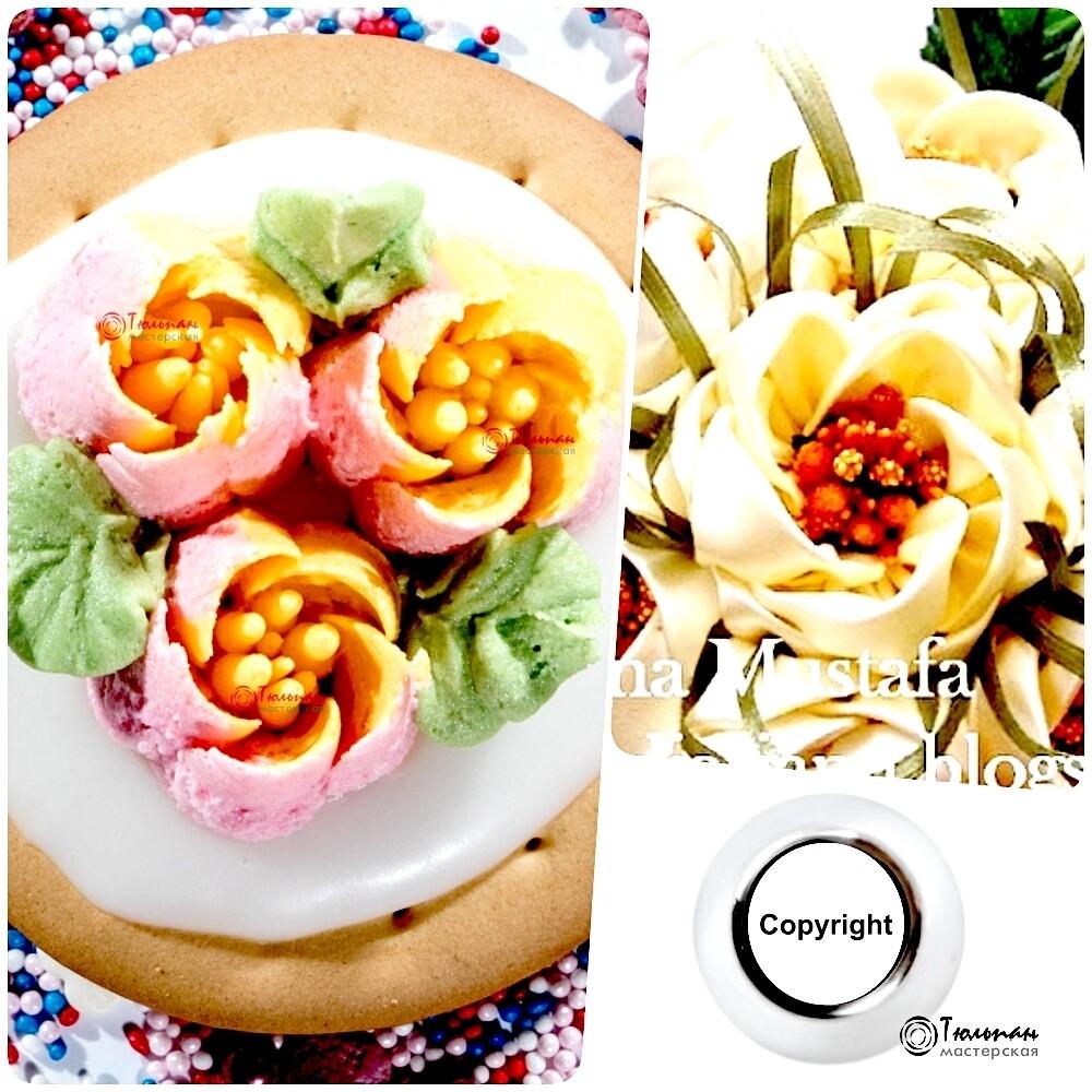 Насадка Цветок №105 Ночной Жасмин | L размер (Russian Flower Nozzle #105 - Night Jasmine | L size | By Tulip Workshop)