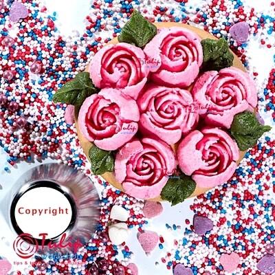 Насадка Роза №111 Рубин | L размер (Russian Rose Nozzle #111 - Ruby | L size | By Tulip Workshop)