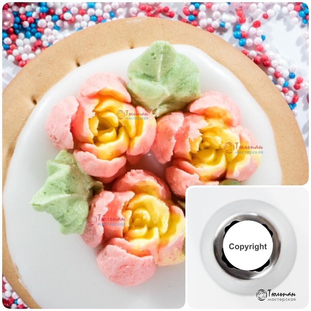 Насадка Роза №108 Манчестер | L размер (Russian Flower Nozzle #108 - Carnation Manchester | L size | By Tulip Workshop)