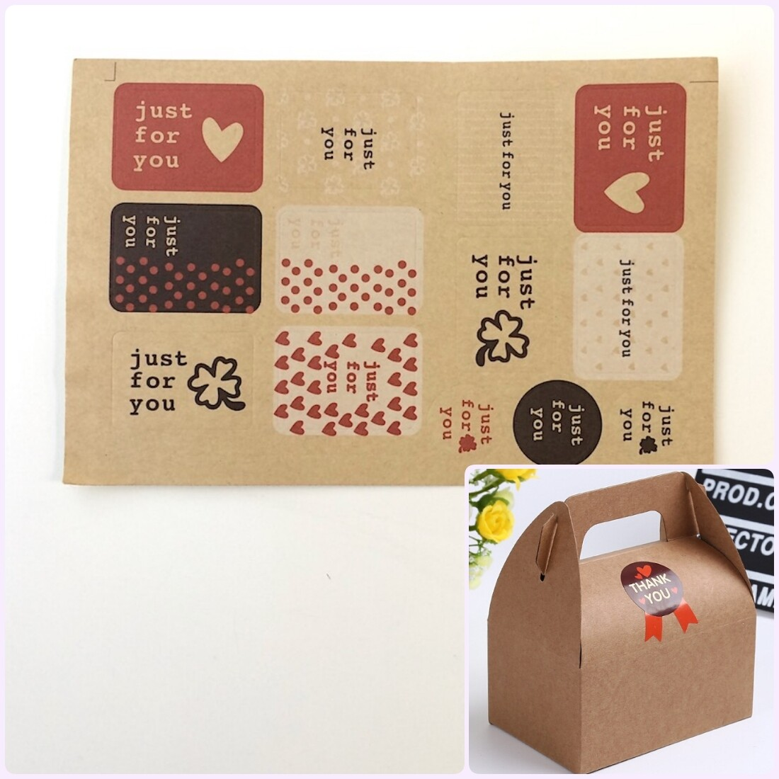 "Наклейки ""jast for you"" на коробки | 13 шт*1 лист"