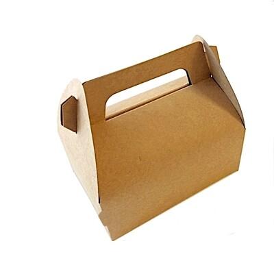Крафт-коробка с ручками (сундучок) 12*8*6 см | упак. 25 шт