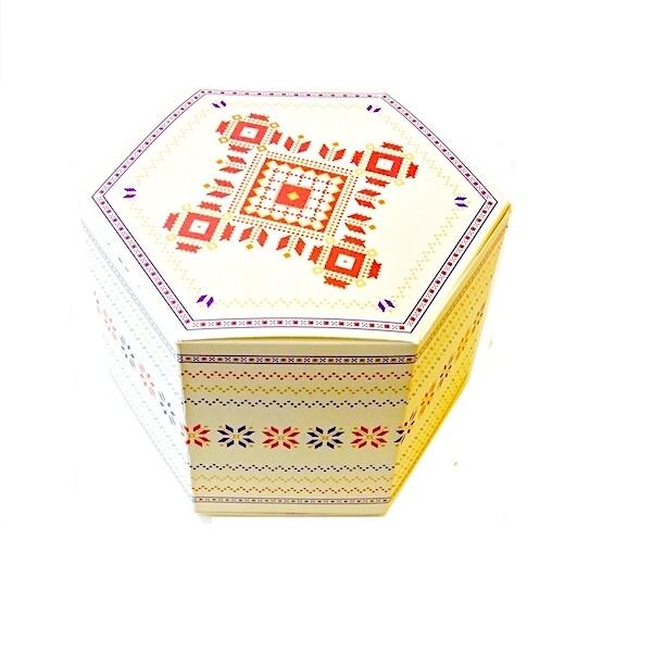 Коробка шестиугольная 14*7*9 cм | упак. 10 шт