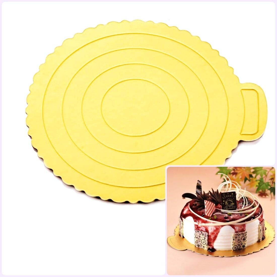 Подложка под торт золото толщина 1.5 мм Ø 16-29 см   упак. 10 шт