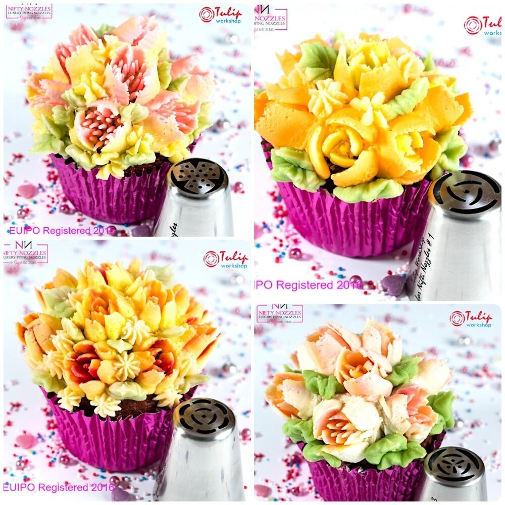 Набор 4 кондитерские насадки - тюльпан одним движением №№ 19,20,21,22 | L размер