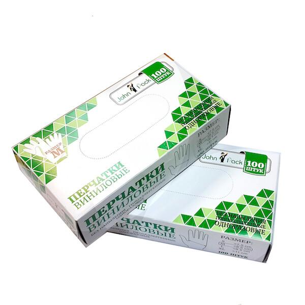 Перчатки виниловые одноразовые размеры S, M, L, XL | 100 шт