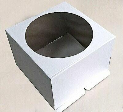 Коробка с окном для торта 42*42*29 см | упак 5-25 шт