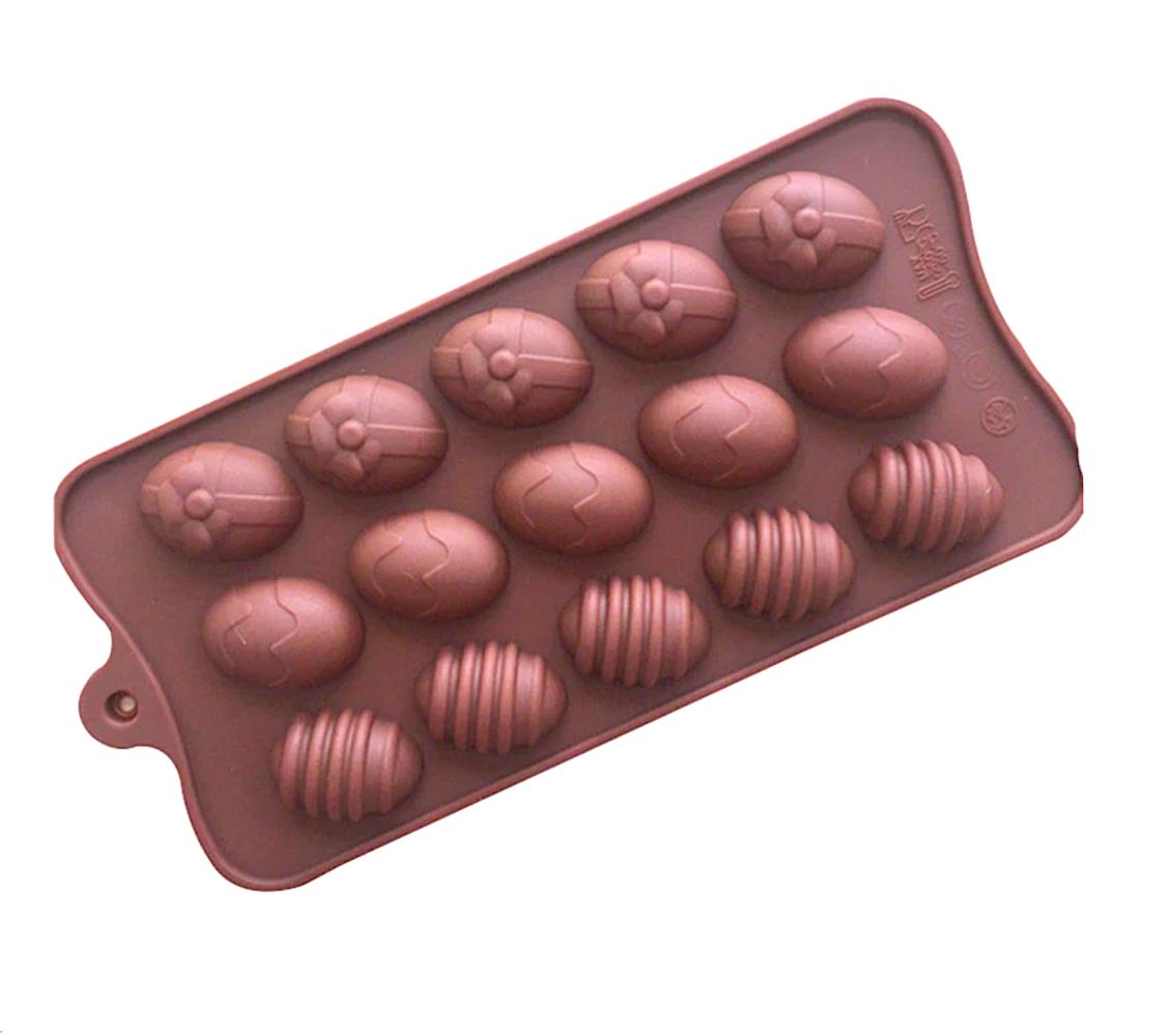 Силиконовая мини-форма для шоколада-желе-мармелада 15 фигур Пасха 210*100*15 мм