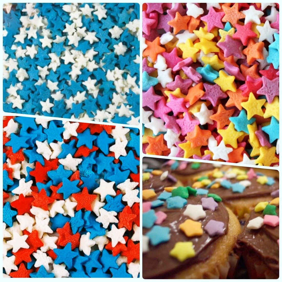 Декоративные кондитерские посыпки | Звёзды 0.75 кг