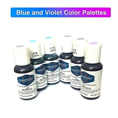 Красители гелевые Америколор Синяя палитра 21 г. | Blue and Violet