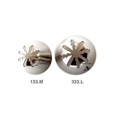 Насадка закрытая звезда №133, 333   Морская Роза (8 лучей) - Standard closed star tip #133, 333   Marine Rose   by Tulip Workshop