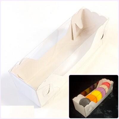 Коробка для макарони с прозрачной крышкой 18*6*6 см | 10-50 шт