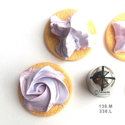Насадка закрытая звезда №138, 338 (8 разных лучей) - Standard closed star tip #138, 338   Frilly Girl   by Tulip Workshop