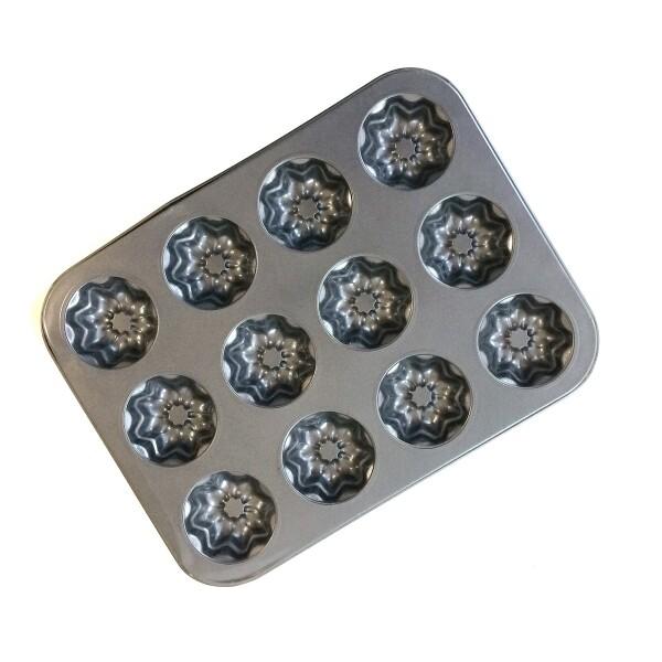 Форма для выпечки металлическая антипригарная | 12 кексов - Звёзды