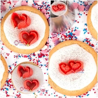 Набор 4 кондитерские насадки Сердца | размер L и XL