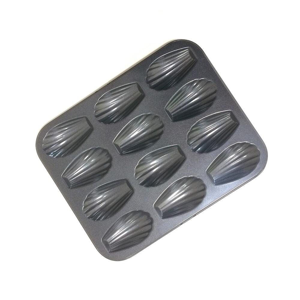 Форма для выпечки металлическая антипригарная | 12 кексов - Мадлен