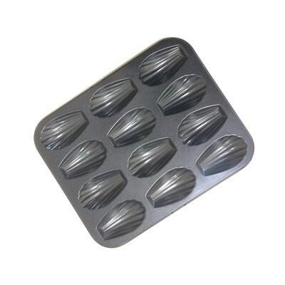 Форма для выпечки металлическая антипригарная   12 кексов - Мадлен