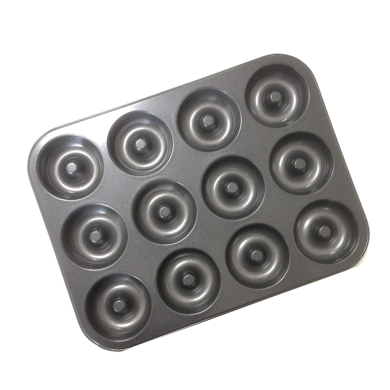 Форма для выпечки металлическая антипригарная   12 кексов - Пончики