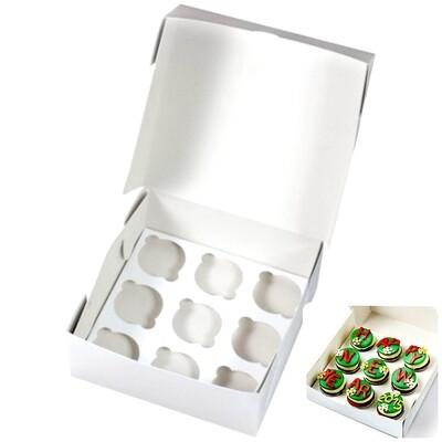 Коробка для 9 капкейков 25*25*11 cм