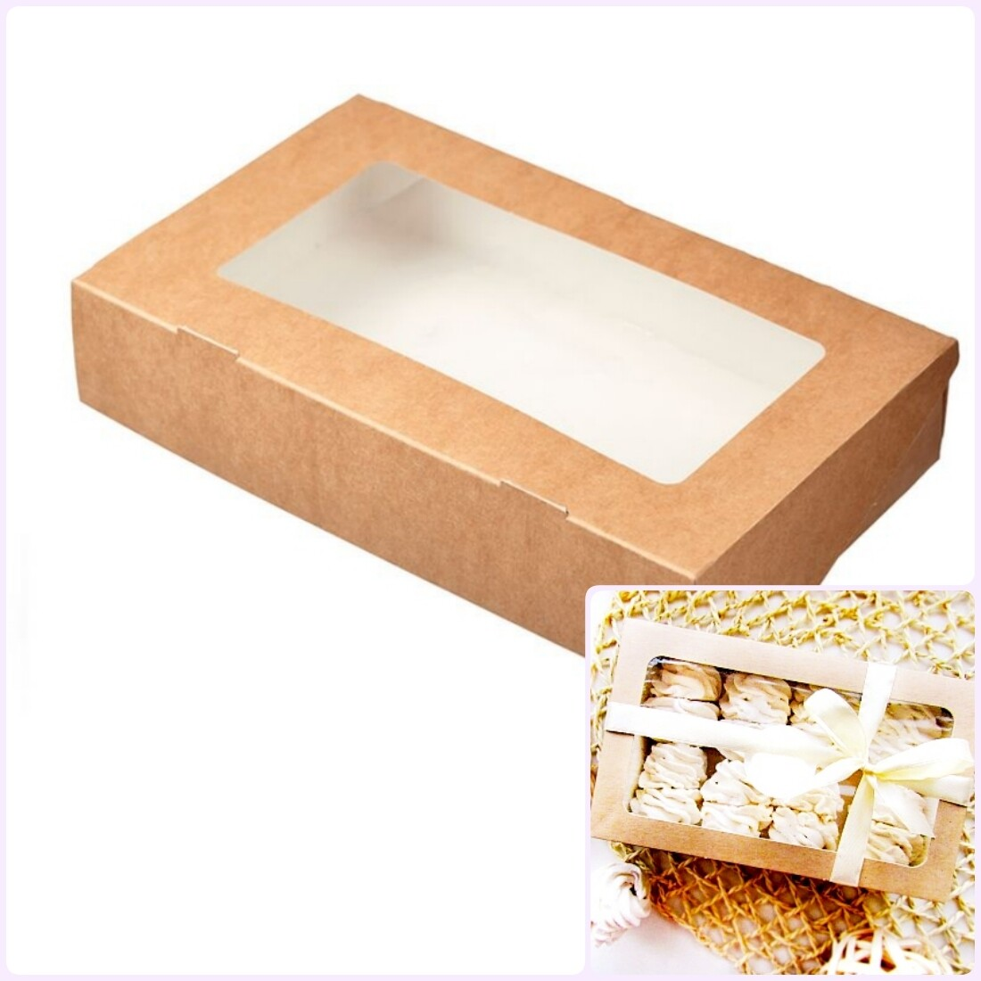 Коробка для выпечки 28*16*5 см Зефир | упак. 5-25 шт