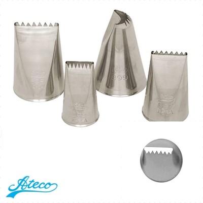Кондитерская насадка лента зубчики №895, 897, 898, 899 от Ateco | медиум размер (Ribbon Basketweave)