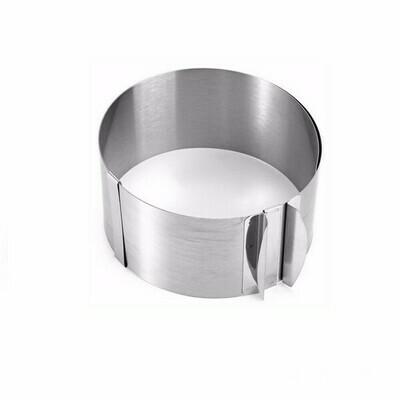 Форма для выпечки металлическая раздвижная | Кольцо 16-30 см, высота 8 см
