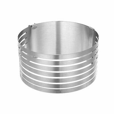 Форма для выпечки металлическая раздвижная | Кольцо 16-20 см, высота 8 см (6 коржей)