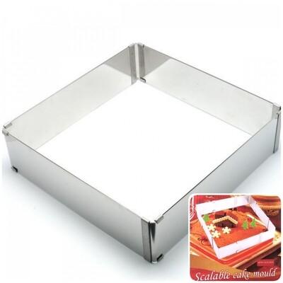 Форма для выпечки металлическая раздвижная |15-28 см, высота 5 cм