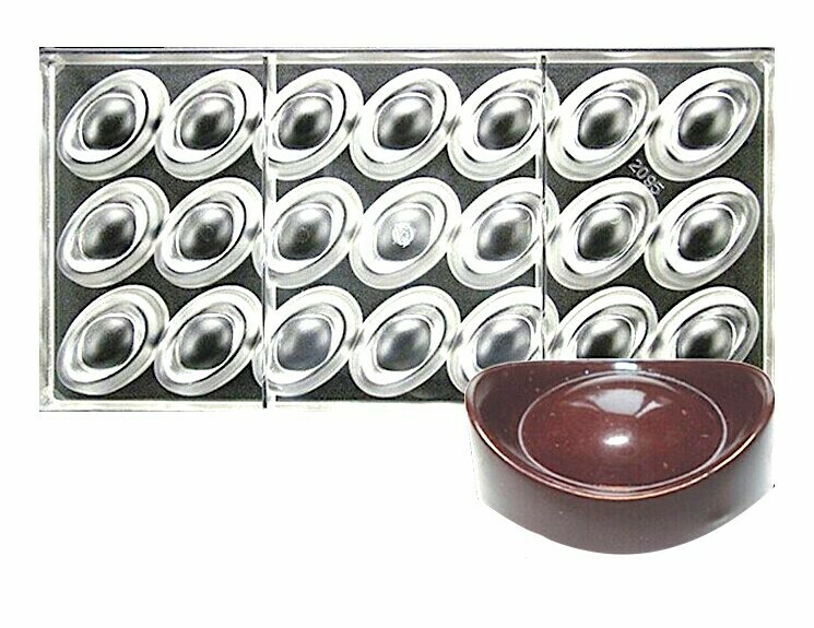 Поликарбонатная форма для шоколада 275*135*24 мм | Овал мод.2095