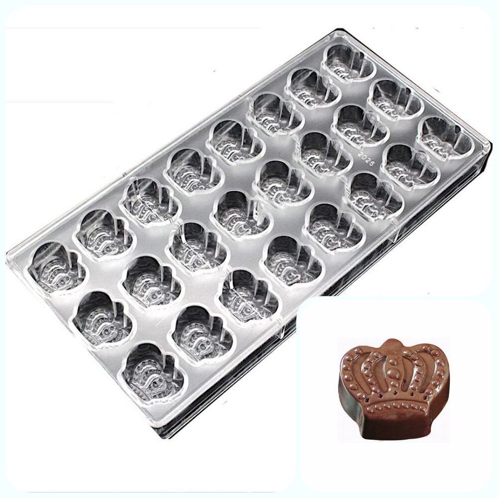 Поликарбонатная форма для шоколада 275*135*24 мм   Корона мод.2026